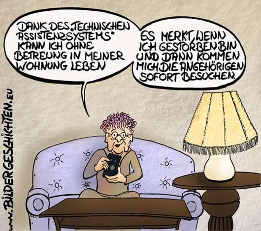 Altenpflege Cartoon