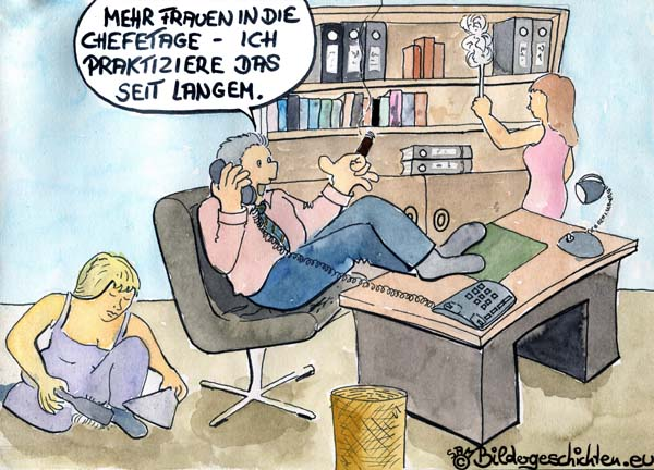 Frauenrechte  - Cartoon
